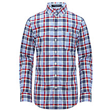 Buy Gant Laundered Checked Poplin Long Sleeved Shirt Online at johnlewis.com