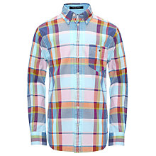 Buy Gant Boys' Sandbank Checked Oxford Long Sleeved Shirt Online at johnlewis.com