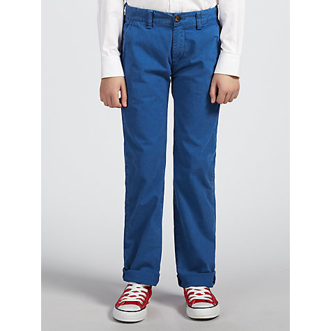 Buy Gant Boys' Soho Classic Chinos, Blue Online at johnlewis.com