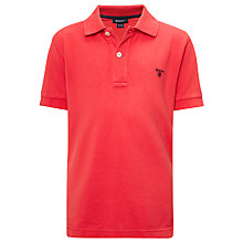 Buy Gant Pique Polo Shirt, Coral Online at johnlewis.com