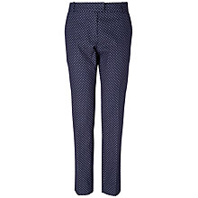 Buy Boutique by Jaeger Lousia Spotty Trousers, Navy Online at johnlewis.com