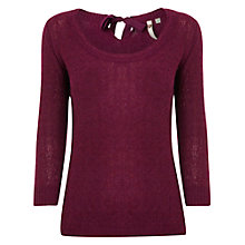 Buy White Stuff Ribbon Bow Knitted Top, Bordeaux Online at johnlewis.com