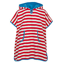 Buy John Lewis Girl Striped Towelling Dress, Red/White Online at johnlewis.com