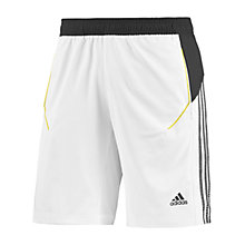 Buy Adidas Response Tennis Shorts, White/Black Online at johnlewis.com