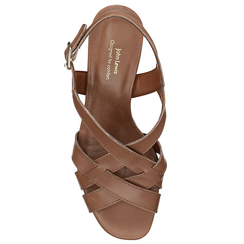 Buy John Lewis Designed for Comfort Puffin Leather Crossover Strap Sandals Online at johnlewis.com