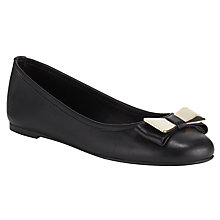 Buy John Lewis Ginmetal Leather Bow Trim Pumps Online at johnlewis.com