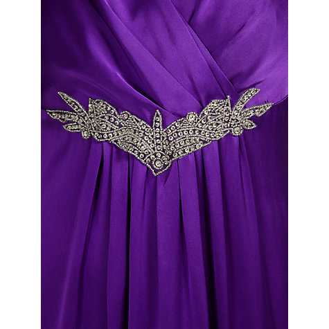 Buy John Lewis Phillipa Satin Dress, Wisteria Online at johnlewis.com