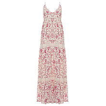 Buy Somerset by Alice Temperley Floral Maxi Dress, Pink/Cream Online at johnlewis.com