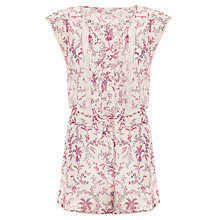 Buy Somerset by Alice Temperley Floral Playsuit, Pink/Cream Online at johnlewis.com