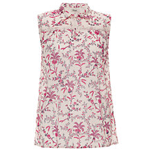 Buy Somerset by Alice Temperley Floral Blouse, Pink/Cream Online at johnlewis.com