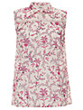 Somerset by Alice Temperley Floral Blouse, Pink/Cream