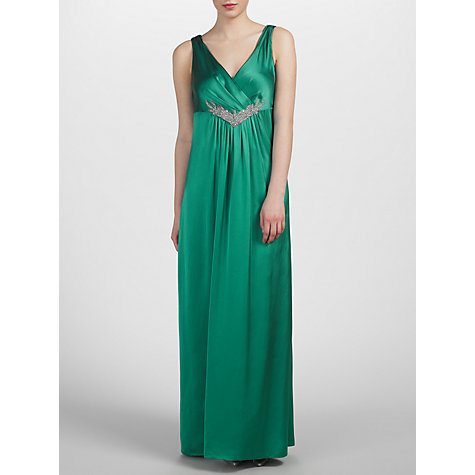 Buy John Lewis Phillipa Satin Dress, Minted Jade Online at johnlewis.com