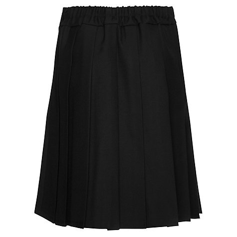 Buy John Lewis Girls' Belted School Kilt, Black Online at johnlewis.com