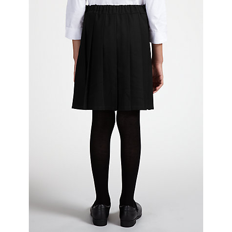 Buy John Lewis Girls' Adjustable Waist Belted School Kilt, Black Online at johnlewis.com