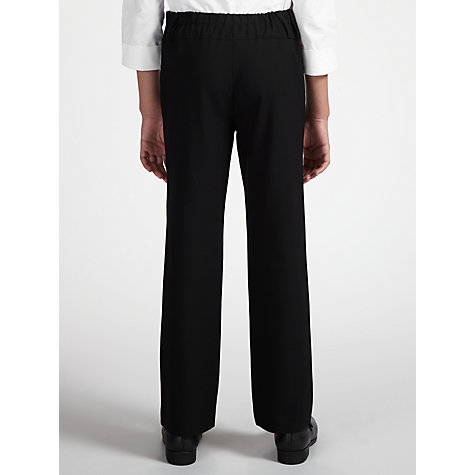 Buy John Lewis Girls' Belted School Trousers With Zip, Black Online at johnlewis.com