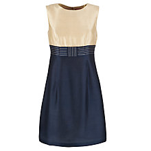 Buy Derhy Bow Front Colour Block Dress, Navy Online at johnlewis.com