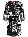 Derhy Floral Print Shirt Dress, Black/White
