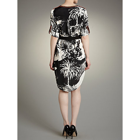 Buy Derhy Floral Print Shirt Dress, Black/White Online at johnlewis.com