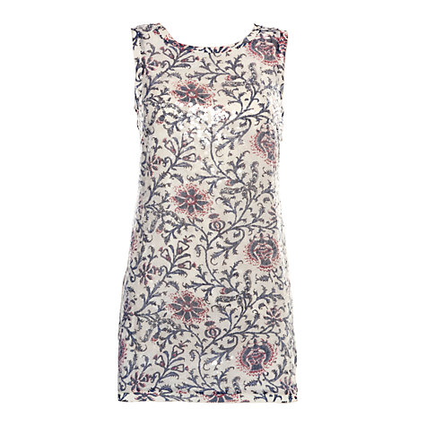 Buy Derhy Floral Print Sequin Dress, Multi Online at johnlewis.com
