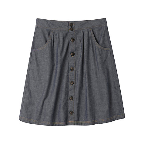 Buy Seasalt Duchy Cotton Skirt, Indigo Online at johnlewis.com