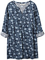 Seasalt Sandrine Tunic Top, Elderflower Orca Print