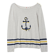 Buy Seasalt Standard Top, Anchor Ecru Online at johnlewis.com