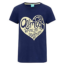 Buy Animal Girls' Heart Graphic T-Shirt, Navy Online at johnlewis.com