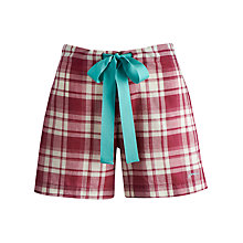 Buy Joules Nikki Checked Pyjama Shorts, Pink Online at johnlewis.com