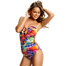 Buy Seafolly Festival Maillot Bandeau Swimsuit, Multi Online at johnlewis.com