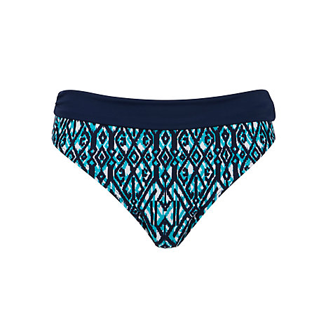 Buy John Lewis Ikat Fold Down Bikini Briefs, Blue Online at johnlewis.com