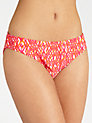 Buy John Lewis Ikat Bikini Briefs, Pink/Orange, 12 Online at johnlewis.com