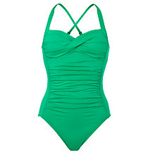 Buy Seafolly Goddess Ruched Detail Swimsuit, Envy Online at johnlewis.com