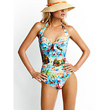 Buy Seafolly South Pacific Halterneck Swimsuit, Blue Online at johnlewis.com