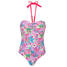 Buy John Lewis Tribal Floral Bandeau Swimsuit, Multi Online at johnlewis.com