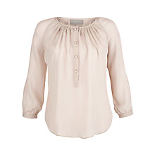 Buy Pyrus Button Embroidered Sleeve Blouse, Cloud Online at johnlewis.com