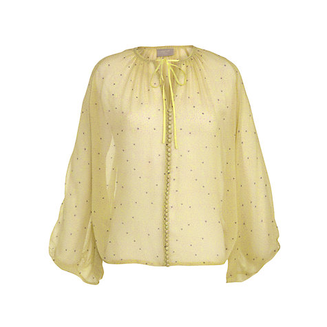 Buy Pyrus Covered Button Blouse, Fracture Citrus Online at johnlewis.com