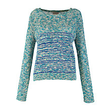 Buy Pyrus Ribbed Jumper, Metallic Blue Online at johnlewis.com