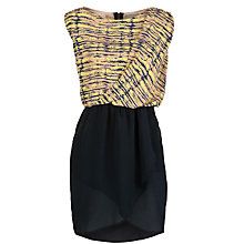 Buy Pyrus Faux Wrap Print Sleeveless Dress, Petrol Frequency Online at johnlewis.com