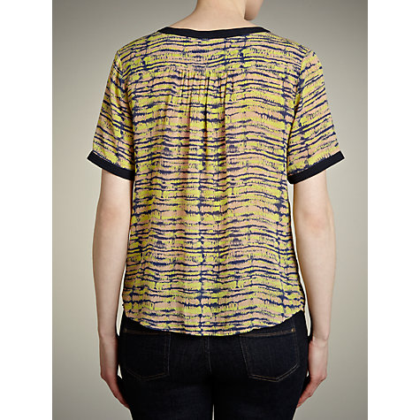 Buy Pyrus Gathered Front T-Shirt, Petrol Frequency Online at johnlewis.com