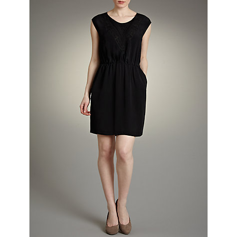 Buy Pyrus Tribal Appliqué Dress, Black Online at johnlewis.com