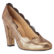 Buy NW3 by Hobbs Astra Metallic Leather Scalloped Edge Court Shoes Online at johnlewis.com
