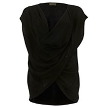 Buy Mint Velvet Twist Front Jumper, Black Online at johnlewis.com