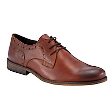 Buy Dune Broker Leather Derby Shoes, Tan Online at johnlewis.com