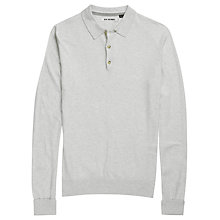 Buy Ben Sherman Long Sleeved Polo Shirt, Parchment Marl Online at johnlewis.com