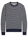 Ben Sherman Stripe Long Sleeve Jumper, North Sea Blue