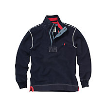 Buy Joules Wyndcroft 1/2 Placket Sweatshirt, Navy Online at johnlewis.com