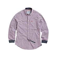 Buy Joules Holton Fine Check Shirt, Red Online at johnlewis.com