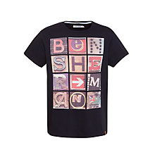 Buy Ben Sherman Text Print Short Sleeve T-Shirt Online at johnlewis.com