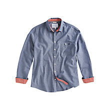Buy Joules Dixton Chambray Shirt, Blue Online at johnlewis.com