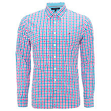 Buy Tommy Hilfiger Multi Check Shirt, Blue/Red Online at johnlewis.com